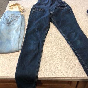 Indigo Blue Pants - Pair of maternity skinny jeans